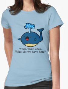 Whale Puns  Womens Fitted T-Shirt