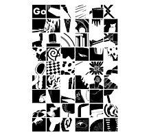 Go: Black & white grid Photographic Print
