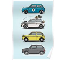 Stack of Honda N360 N600 Kei Cars Poster