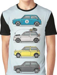 Stack of Honda N360 N600 Kei Cars Graphic T-Shirt