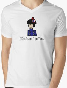 The Bread Police  Mens V-Neck T-Shirt