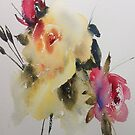 Watercolour Rose IPAD Cover by Karl Fletcher