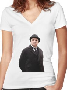 Carson Downton Abbey Women's Fitted V-Neck T-Shirt
