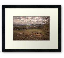 Horses & Landscape Framed Print