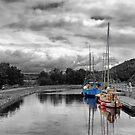 Crinan Canal Scotland by Lynn Bolt