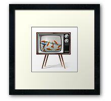 Gold fish tv 02 Framed Print