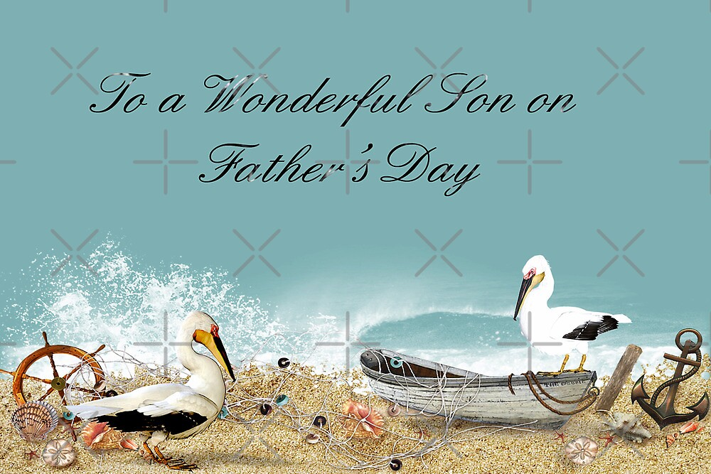 To a Wonderful Son on Father's Day by Vickie Emms