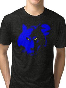 Blue Wolf Head Tri-blend T-Shirt