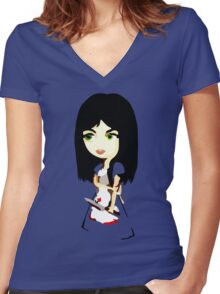 American McGee's Alice Women's Fitted V-Neck T-Shirt