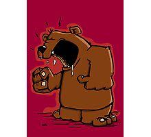 Grumpy Bear has an Argument Photographic Print