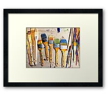 Studio Brushes Framed Print
