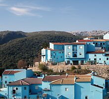 Juzcar,  blue Andalusian village  by Blanchi-photos