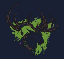 Inky Stag One Piece - Short Sleeve