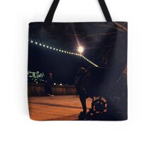 The city, it never sleeps, the lights never go out. Tote Bag