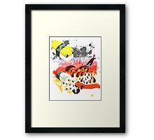 Sushi explosion Framed Print