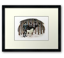 The Crow and the Wolf Framed Print