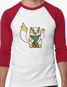 Cake the (Beckoning) Cat Men's Baseball ¾ T-Shirt