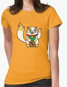 Cake the (Beckoning) Cat Womens Fitted T-Shirt