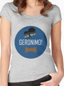 Doctor Who Geronimo Badge Women's Fitted Scoop T-Shirt