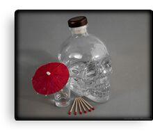 Skull Head Vodka Canvas Print