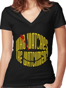 Who Watches the Watchmen? Women's Fitted V-Neck T-Shirt