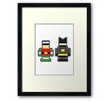 Batman & Robin... Brick Form! Framed Print