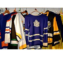Hockey Team Sweaters Photographic Print