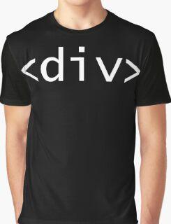 <div> tag - HMTL Code - Web Design Graphic T-Shirt
