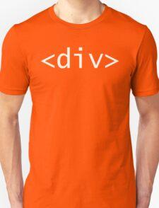 <div> tag - HMTL Code - Web Design Unisex T-Shirt