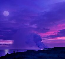 Lavender Moon over Kalapana by Alex Preiss