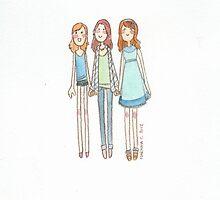 Lizzie Bennet Diaries - Lydia, Lizzie, Jane by MartinaC