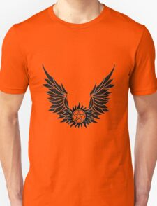 SPN Anti-Possession Tattoo with Wings T-Shirt