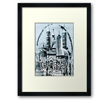 Futurist Shopping Mall. Framed Print