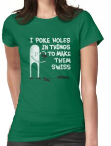 Making Swiss Happen Womens Fitted T-Shirt