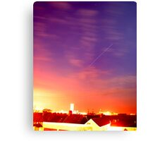 International Space Station over Swansea Canvas Print