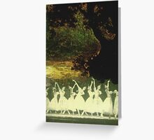Swan Lake - Homage to Kyle Ragsdale Greeting Card