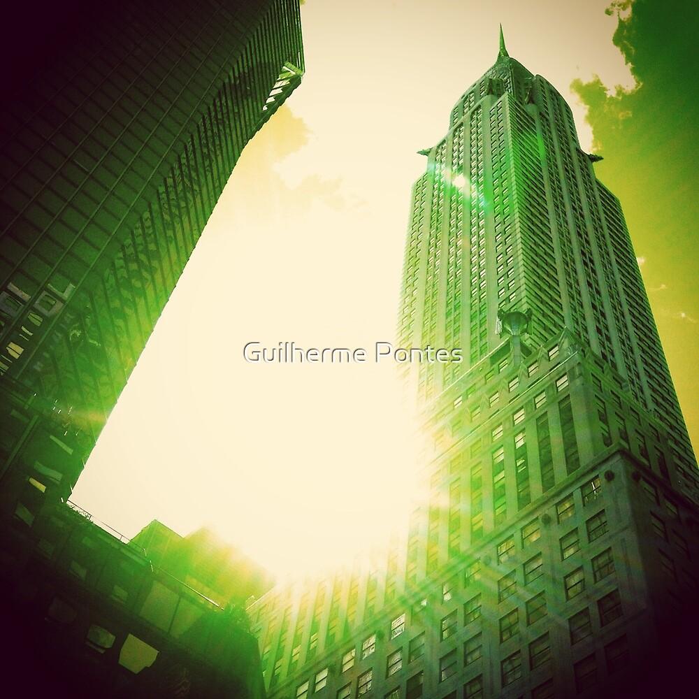 Green Chrysler Building by Guilherme Pontes