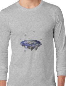 Flat Earth Long Sleeve T-Shirt