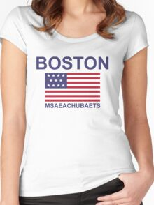 BOSTON MSAEACHUBAETS Women's Fitted Scoop T-Shirt