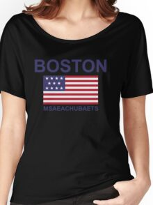 BOSTON MSAEACHUBAETS Women's Relaxed Fit T-Shirt