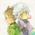 HxH - Gon / Killua by banafria
