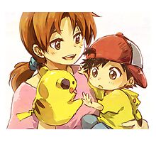 Pokemon - Mom & Ash Photographic Print