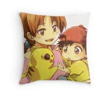 Pokemon - Mom & Ash Throw Pillow