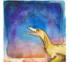 Space Velociraptor Photographic Print