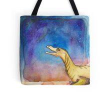 Space Velociraptor Tote Bag