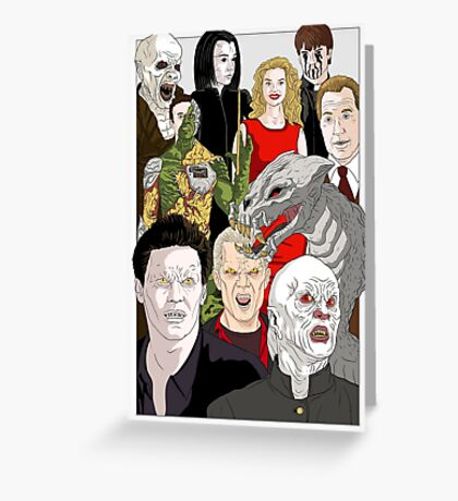 Buffy Big Bad Poster Greeting Card