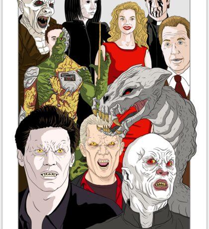 Buffy Big Bad Poster Sticker