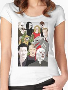 Buffy Big Bad Poster Women's Fitted Scoop T-Shirt