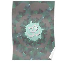 Om and Lotus Flowers  Poster