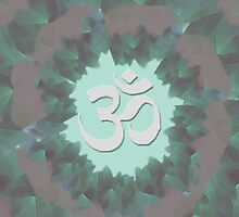 Om and Lotus Flowers  by cassidymarie